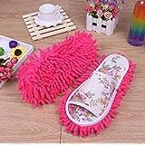 Sungpunet Women Dust Mop Slippers Socks Microfiber House swab swob Slippers Bedroom Shoes cleaning tool on sale