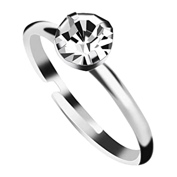 Amazon Aboat 100 Pack Silver Diamond Bridal Shower Rings For
