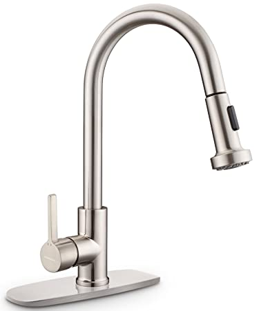 Kitchen Faucet, Cupc Certificated Sarissa Brushed Nickel Single