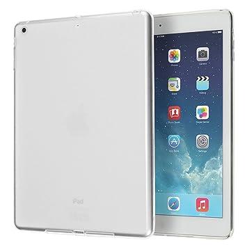 doupi PerfectFit Funda compatible con iPad Air (1. Gen.) A1474 A1475 A1476 TPU Ligero Estuche Protección, blanco