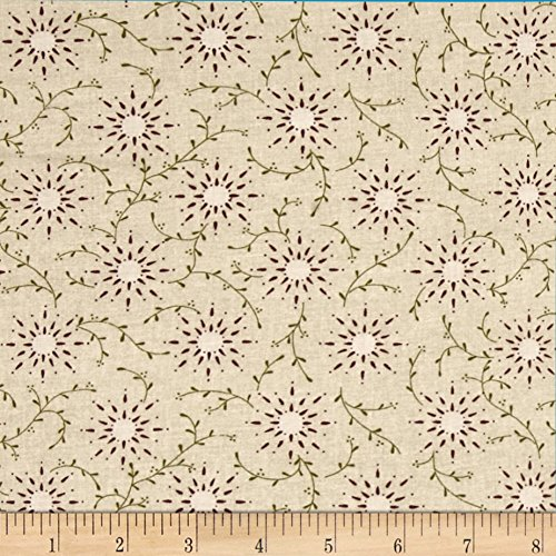 Cream Quilt Fabric (108in Wide Quilt Backing Prairie Vine Cream Fabric By The Yard)