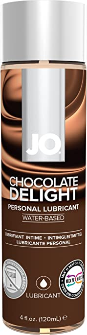 JO H2O Water Based Flavored Personal Lubricant, 4 Ounce Chocolate Delight Lube for Men, Women and Couples