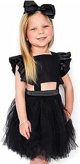 IGEMY Kleinkind Backless Kleid Baby Mädchen Geraffte Straps Gaze Prinzessin Outfits