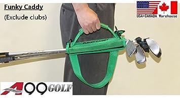 Bolsa ligera de transporte para palos de golf (con velcro), color negro, de la marca A99 Golf
