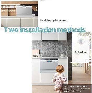 Huazai Utensilios de Cocina Encimera automática Lavavajillas, Calificación Lavavajillas, [Clasificación energética A +], 550x550x438mm: Amazon.es: Hogar