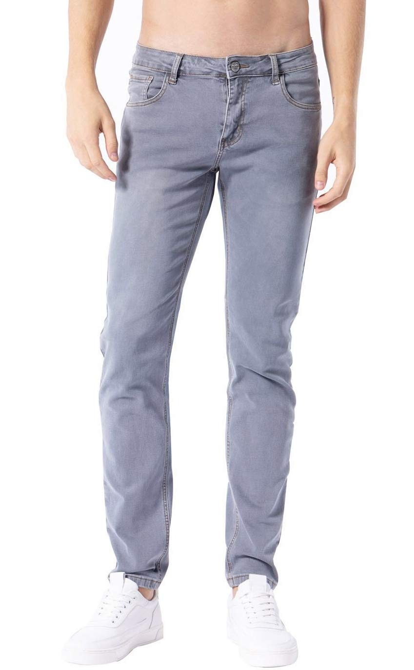 2a6ec3a688eb Galleon - ZLZ Men's Skinny Slim Fit Stretch Comfy Fashion Denim Jeans Pants  (Light Blue, 40)