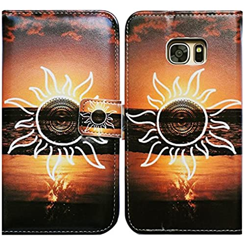 Bfun Packing Bcov Sun Eye Sea Card Slot Wallet Leather Cover Case For Samsung Galaxy S7 Sales