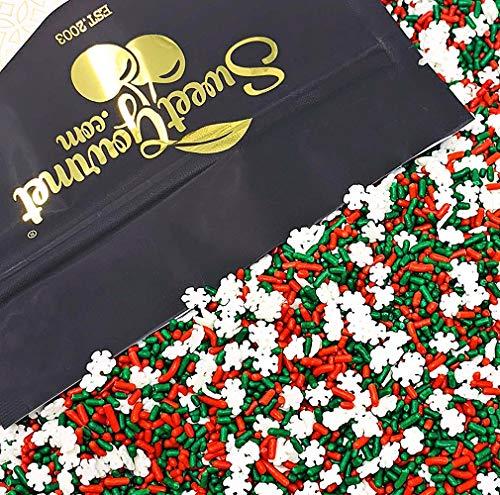 SweetGourmet Noel Mix - Christmas Sprinkles & Nonpareils | holiday sprinkles | bulk 2 pounds (Decorating Christmas Natural)