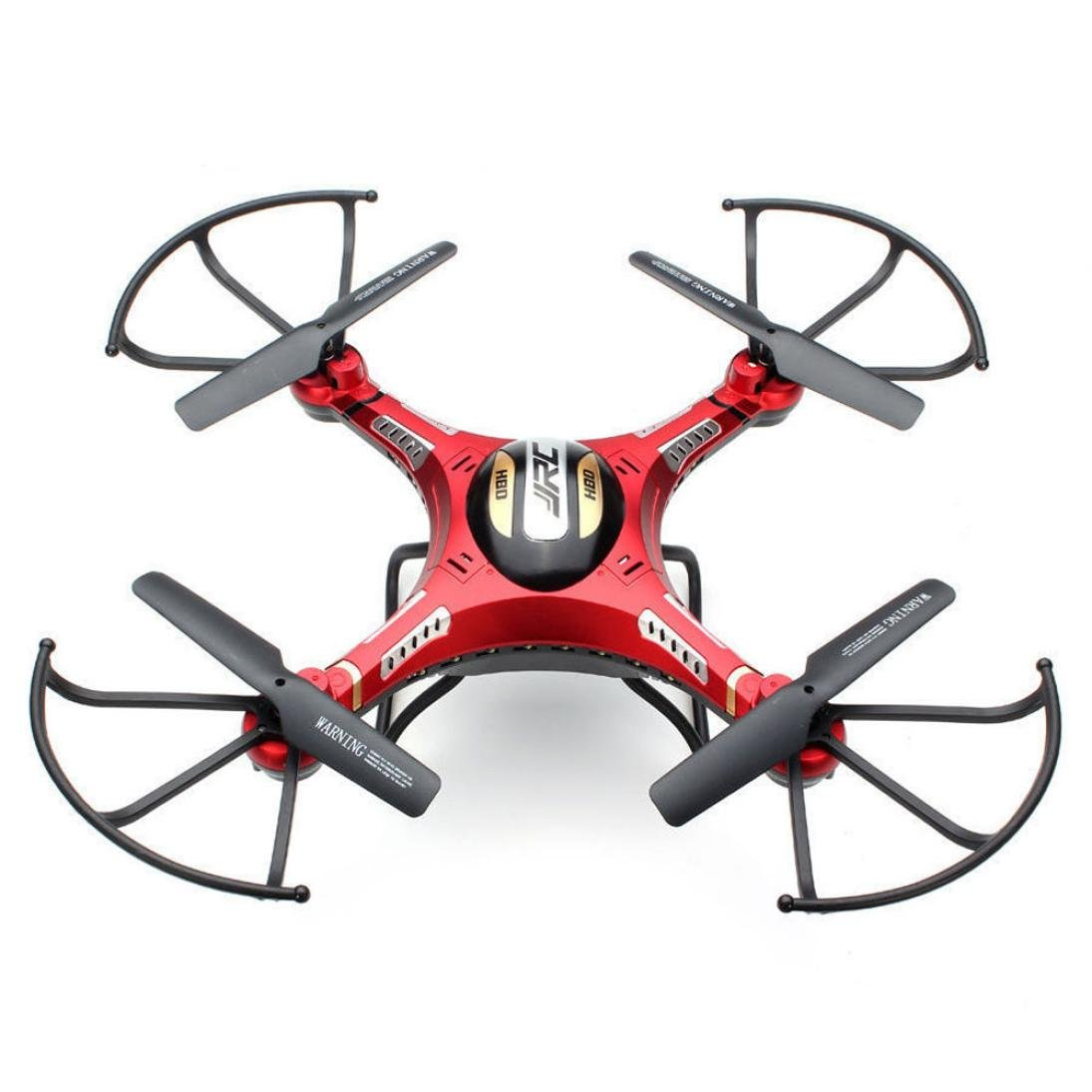 Iusun Upgrade JJRC H8D 4CH 6 Axis 5.8G FPV RC Quadcopter Drone HD Camera + Monitor+ 4 Battery (Red)