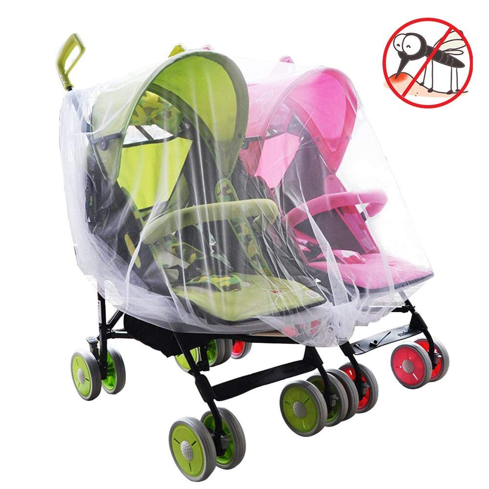 Chifans Insektenschutz Moskitonetz f/ür Kinderwagen Schutz vor Moskito Insekt Mosquito Net for Twin or Tandem Pushchair Free Travel Net