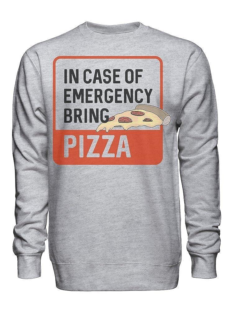 in Case of Emergency Bring Pizza Unisex Crew Neck Sweatshirt