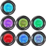 """IZTOSS 2""""(52mm) 7 Color LCD digital Water temp gauge 40-140 C temperature sensor/autometer/car meter/Pressure gauge"""