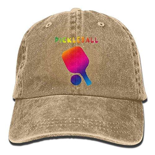 Neon Pickleball Funny Adult Sport Adjustable Baseball Cap Cowboy Hat