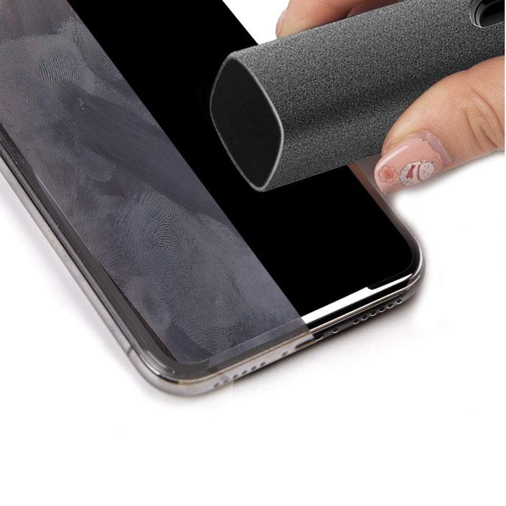 Touchscreen Mist Cleaner, Versatile Screen Cleaners, Safe for All Phones, Laptop and Tablet Screens,Two in One Spray and Microfiber Cloth (Gray)