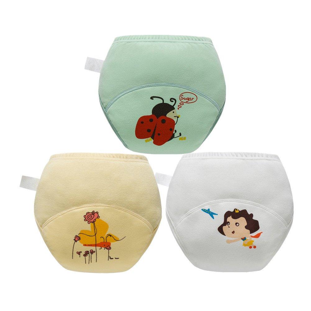 Skhls Baby Jungen Toilette Pinkeln Ü ben aufs Tö pfchen zu gehen Hosen Windel Windel Unterwä scher, Jungen-2 Stü ck D, 2jahre