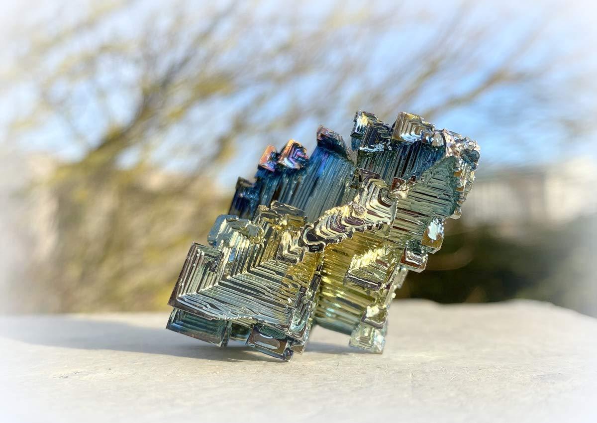 Bismuth Crystal Mineral Specimen Large