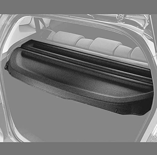 Has Additional Flap to Make It No Gap Behind the Back Seats,Can Withstand the Load Caartonn Cargo Cover for 2009 2010 2011 2012 2013 Honda Fit Jazz Black Rear Trunk Luggage Security Shade Shield