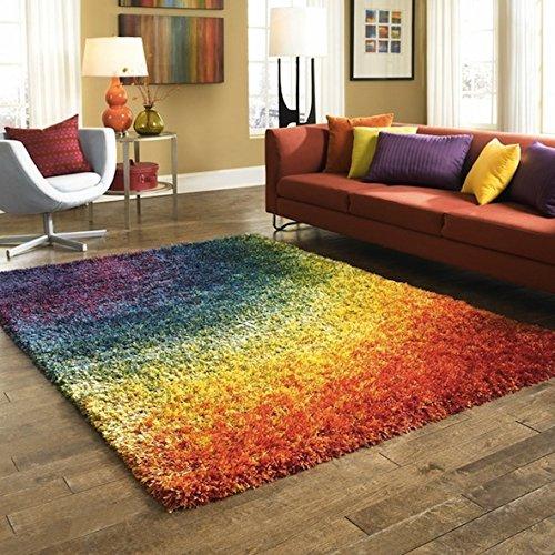 Stella Rainbow Shag Indoor Rug (5'2 x 7'7)