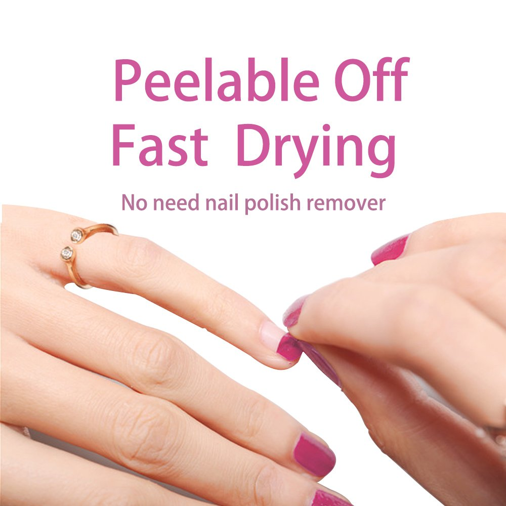 Amazon.com: Peelable Non Toxic Nail Polish - Emosa Natural Chemical ...