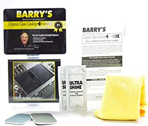 Barry's Restore It All Products - Ceramic Glass Cooktop Rescue Kit   Easily and Safely remove: Baked-on Deposits, mineral deposits and MORE without the use of dangerous razor blades or scrapers