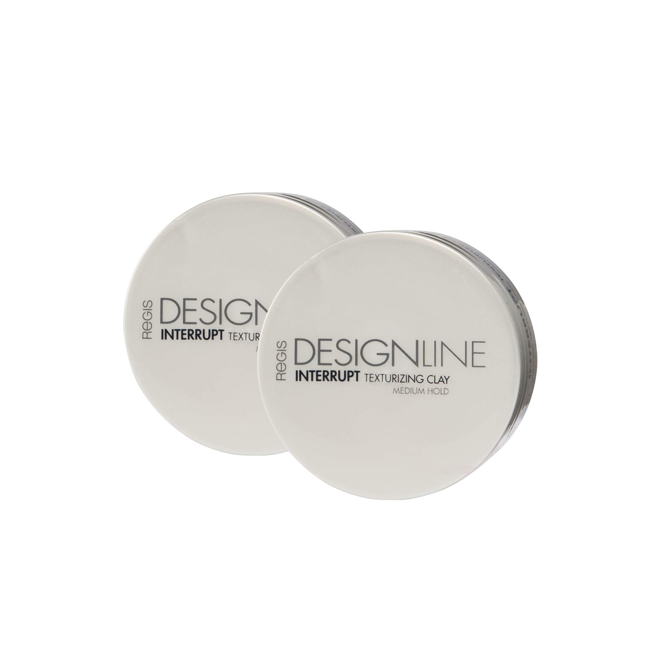 Interrupt Texturizing Clay, 2 oz - Regis DESIGNLINE - Creates Texture, Definition, and Separation with a Medium-Hold to Add Volume for All Hair Styles (2 oz (2 Pack)) by DESIGNLINE