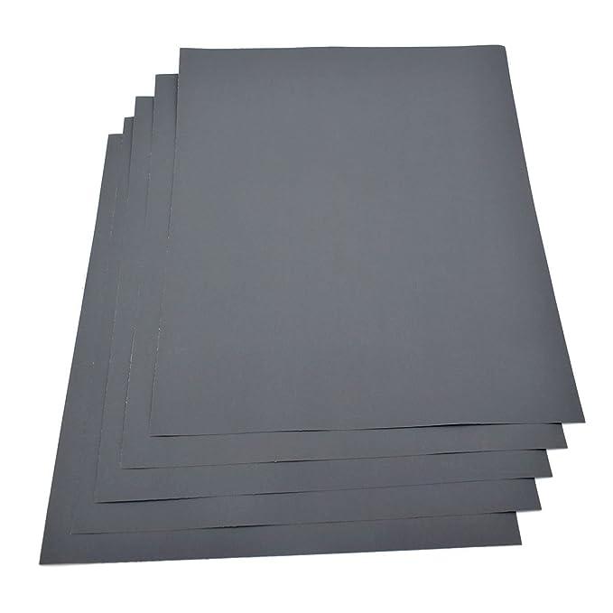 230/x280/mm Schleifpapier 5/St/ück Blatt/ /K/örnung 2000/Wasserfestes Papier nass//trocken Siliziumkarbid