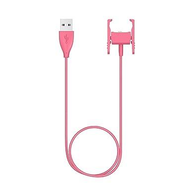 Para Fitbit Charge 2 Cargador Dock adaptador, portátil de repuesto M (3,3 pies/1 m) USB Cable de carga carga 2 carga Clip soporte para Fitbit Charge 2 ...
