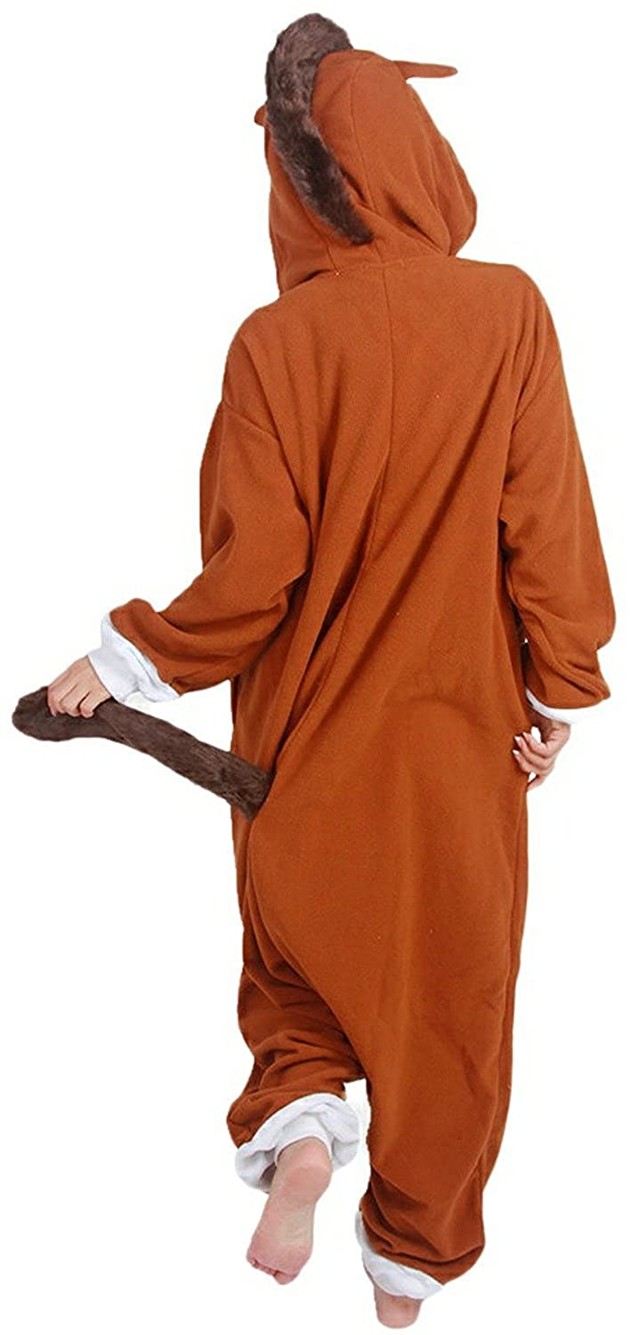 Adult Animal Pajamas One Piece Cosplay Halloween Xmas Costume Sleepwear