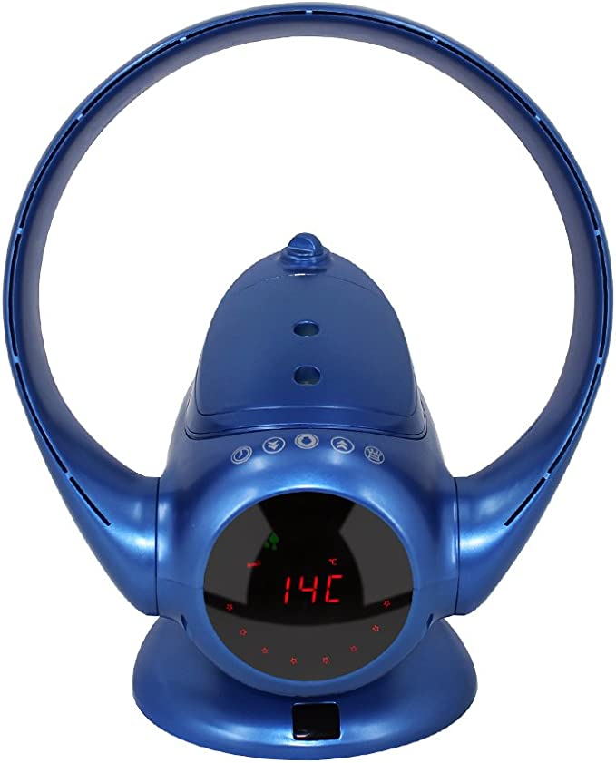 EODO ventilador sin aspas,ventilador multiplicador de aire, ventilador de torre con Aire Humidificador de purificador de aire, color azul: Amazon.es: Bricolaje y herramientas