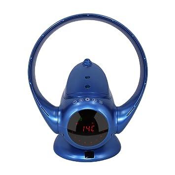 EODO Blattloser Ventilator, Luftvervielfachender Ventilator, Turmventilator  Für Luftbefeuchter Und Luftreiniger, Splitter (Blau
