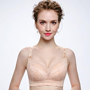 Longless algodón acolchado transpirable ropa interior de algodón mujeres embarazadas cómoda delgada sobre el sujetador de