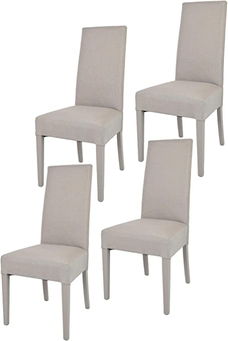 Tommychairs Set 4 sedie Chiara Eleganti e Moderne per Cucina, ristoranti, Bar e Sala da Pranzo, con Struttura in Legno di faggio, Seduta e Schienale