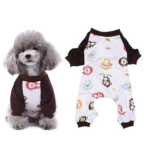 Pssopp Perro Pijamas Cachorro Pijamas de Dibujos Animados ...