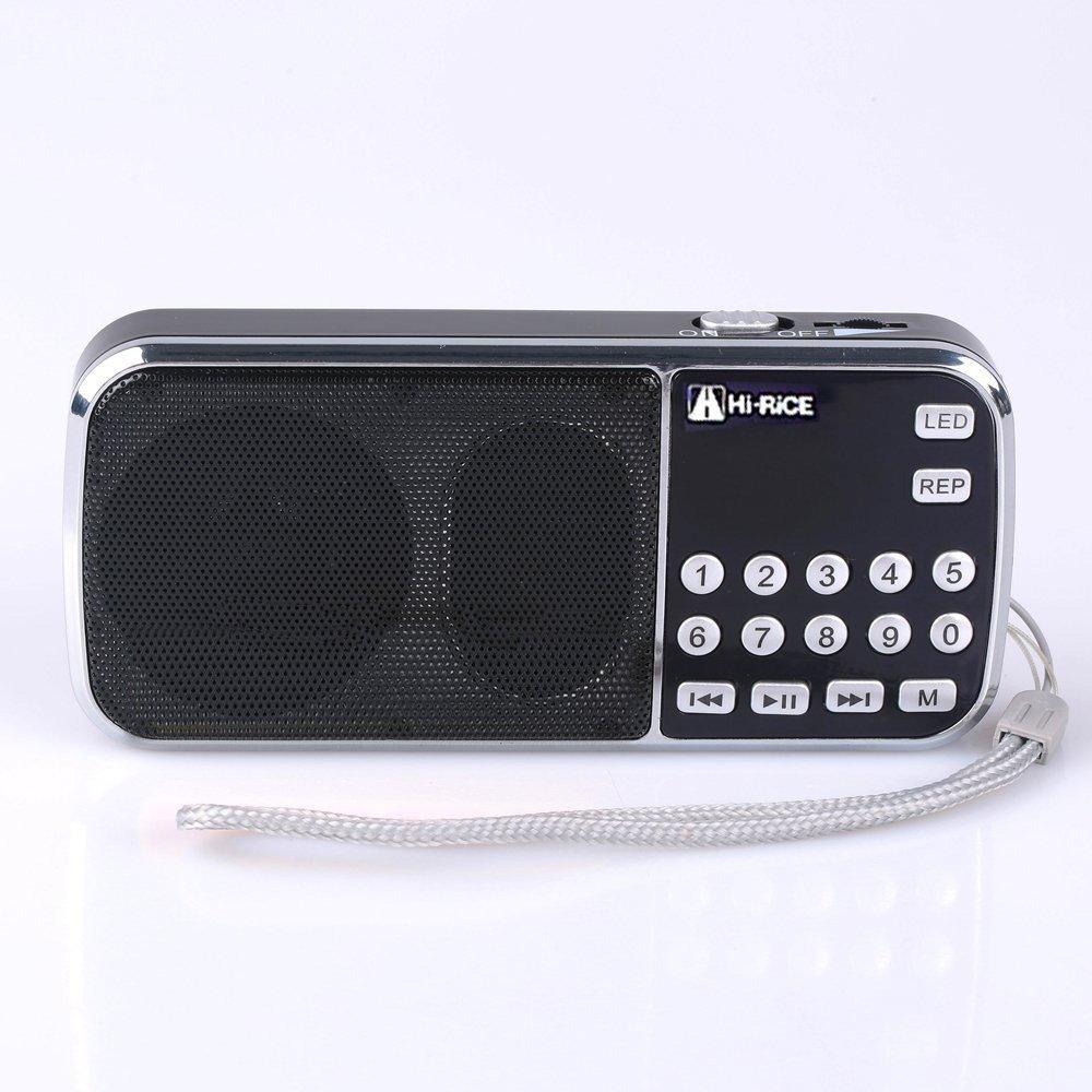 Hi-Rice SD-101 FM AM Digital radio USB TF card Mp3 Player digital speaker For Elder Older Parents Leisure