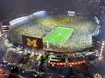 Amazon.com: Michigan Notre Dame bajo las luces fútbol 3d ...