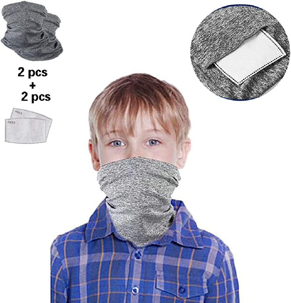 Outdoor Bandanas with Spacer Half Face Neck Scarf for Children Protection from Sun Dust UV SUNICOL Face Shield for Kids
