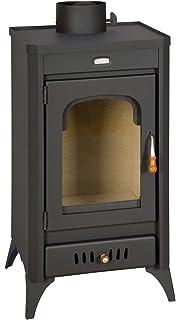 Estufa de leña chimenea Multi Fuel Log quemador de cerámica cristal 11 kW Prity Sr