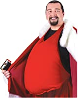 Fun World Men's Padded Santa Belly Costume Accessory, White, Standard