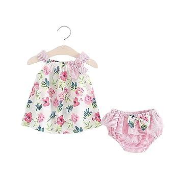 1fb6b06ac4e9d ZooArts ベビー服 ワンピース 女の子 二点セット ワンピース パンツ 新生児サイズ キャミソール 女児 花柄