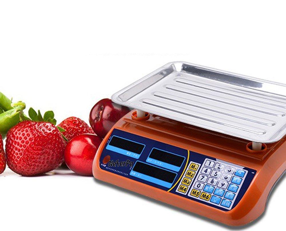 SANDA Bascula Comercial 40k balanza Digital Reforzada Comercio frutera AC 220V - DC 1.5V x 3 (no Incluidas): Amazon.es: Hogar