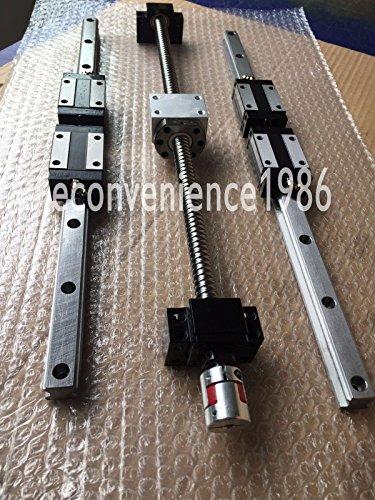 2 sets HSR20-300mm Hiwin Liner rail & RM1605-300 mm & BK12 / BF12 & Coupling