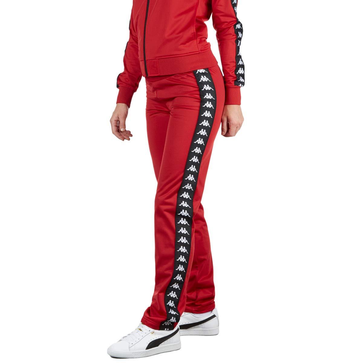 1bb9f758eb Kappa Womens 222 Banda Wastoria Pants - Dark Red/Black - LG at ...