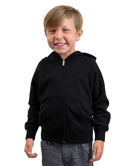 eca3dca57 Amazon.com: Global Blank Youth Lightweight Zip Up Soft Fleece Hoodie ...