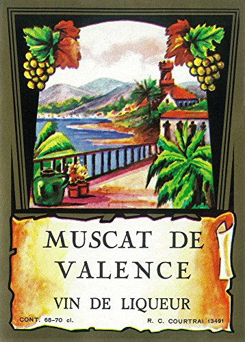Muscat De Valence Wine Label (16x24 SIGNED Print Master Giclee Print w/Certificate of Authenticity - Wall Decor Travel Poster)