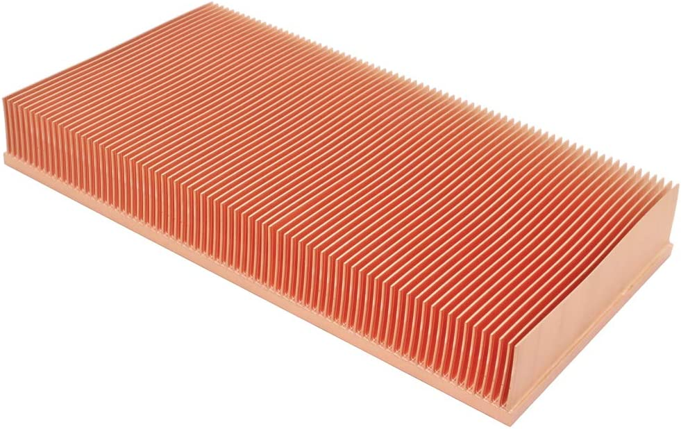 DIY Pure Copper Skiving Fin Heatsink 150x80x20mm 5.91x3.15x0.79 inches for Electronic Chip LED Cooling