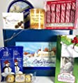 Holiday Favorites Christmas Gift Box Basket - Delicious Cookies, Chocolates, Nuts, Peppermints, and More - For Men, Women, and Children - Send Your Seasons Greetings Today! Prime