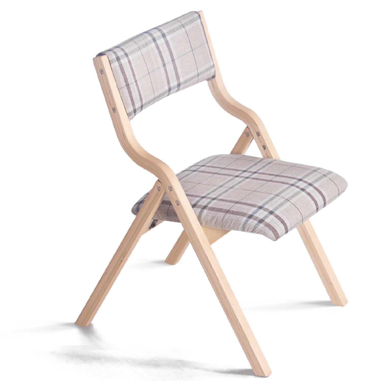 GAOJIAN Wooden Folding Chair Modern Home Fabric Dining Chair Book Chair Balcony Backrest Chair Computer Chair , e