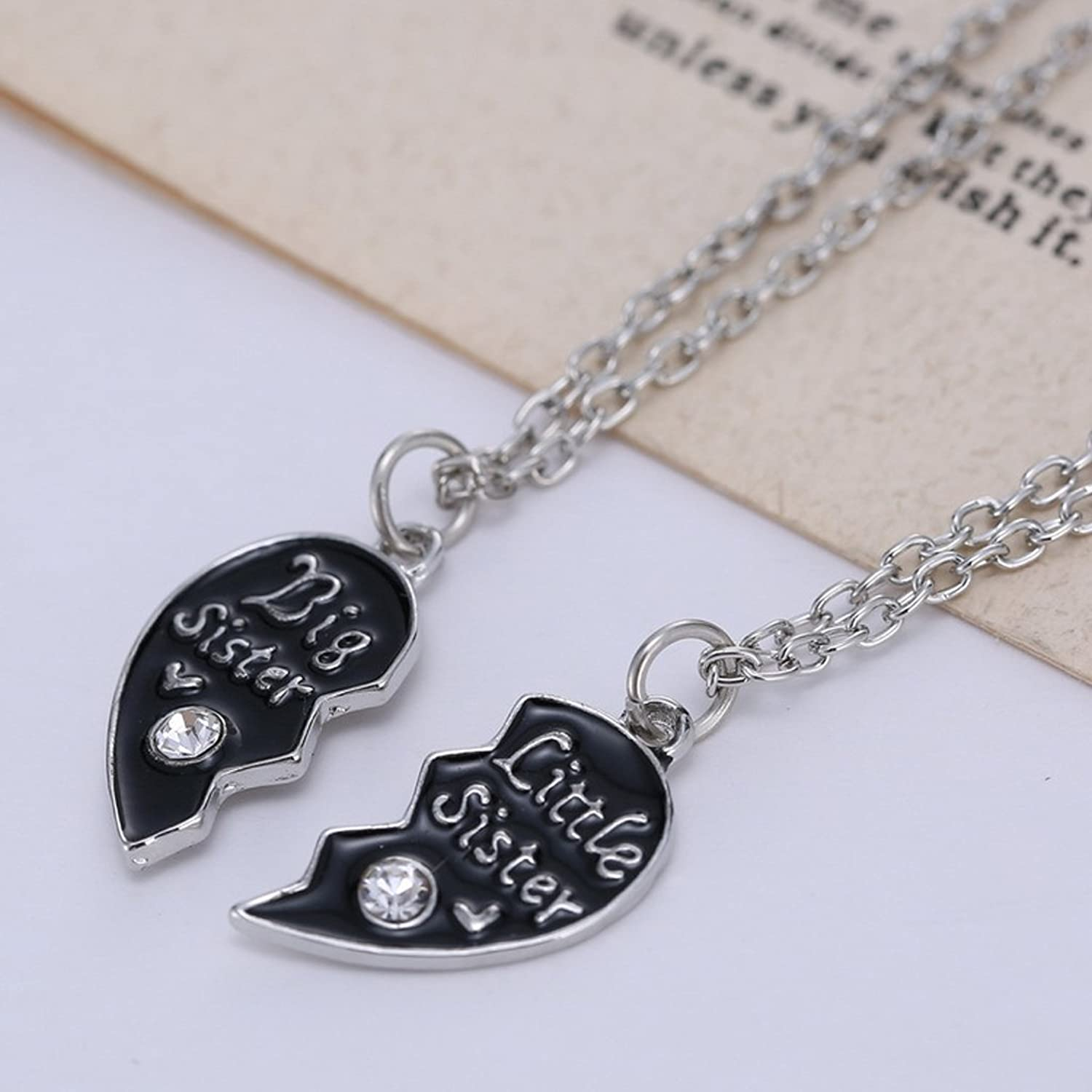 Buy generic sisters love combine heart pendant necklace chain silver buy generic sisters love combine heart pendant necklace chain silver black jewel for women online at low prices in india amazon jewellery store amazon mozeypictures Choice Image