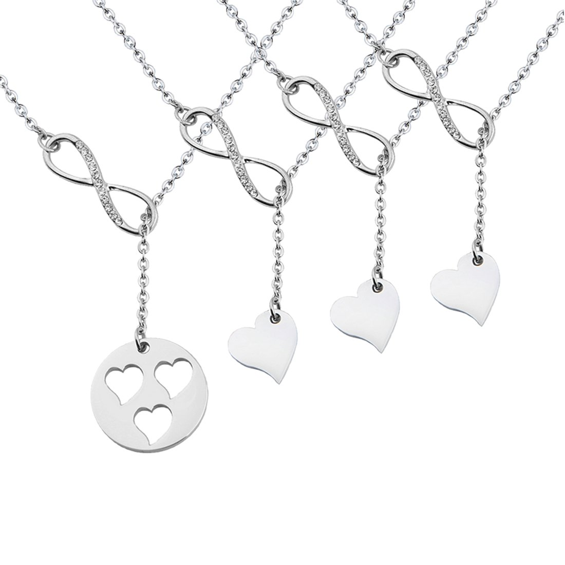 Zuo Bao Mother and Daughters Necklace Set Mother Daughter Lariat Y Necklace Y-necklace-1