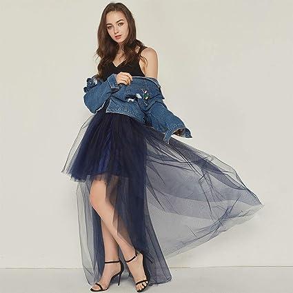 Ludzzi - Falda de tutú de malla, plisada de cintura alta, mullida ...